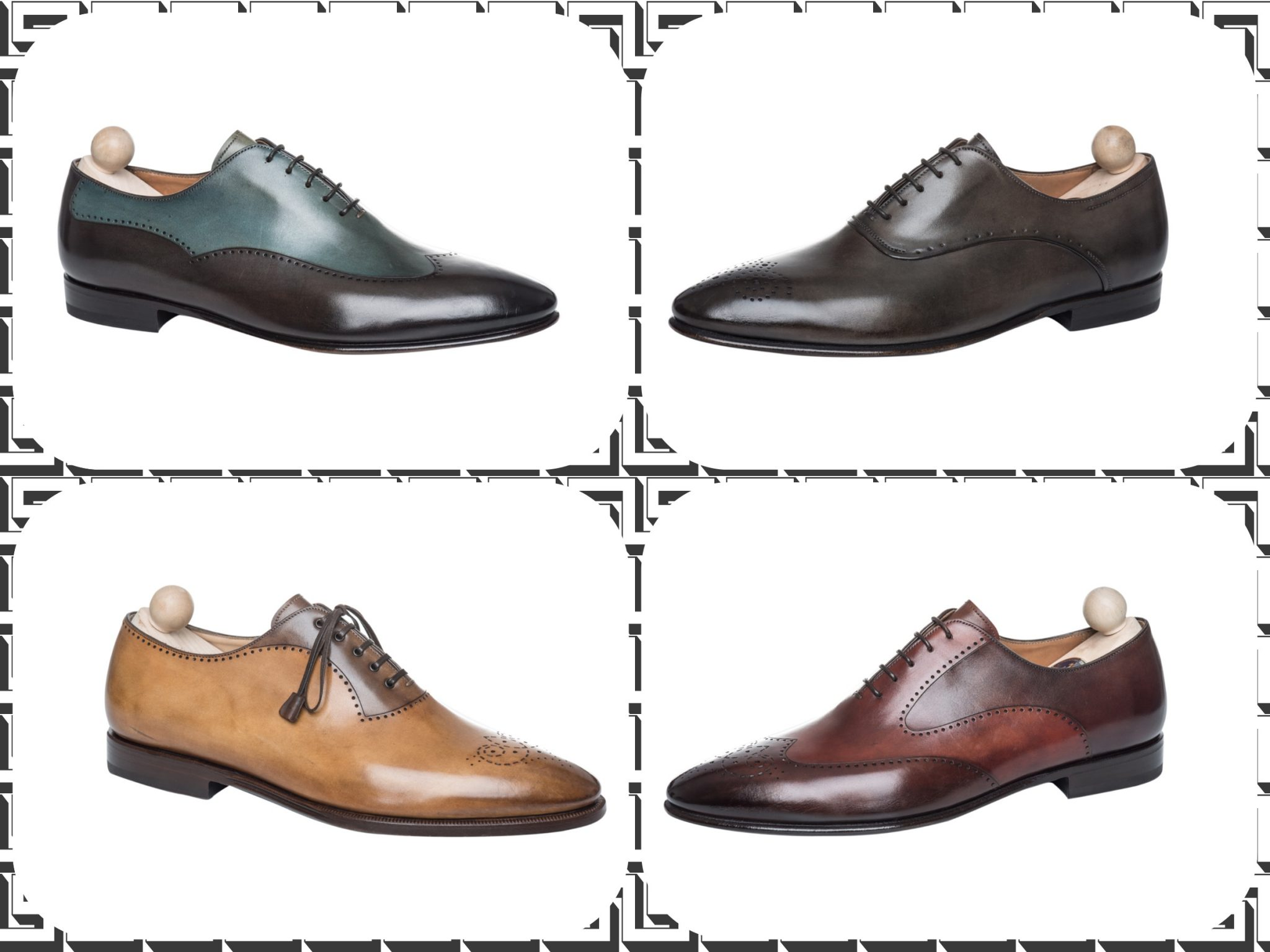 SS2013 Luxury Handpainted Lace-up Shoes by Franceschetti