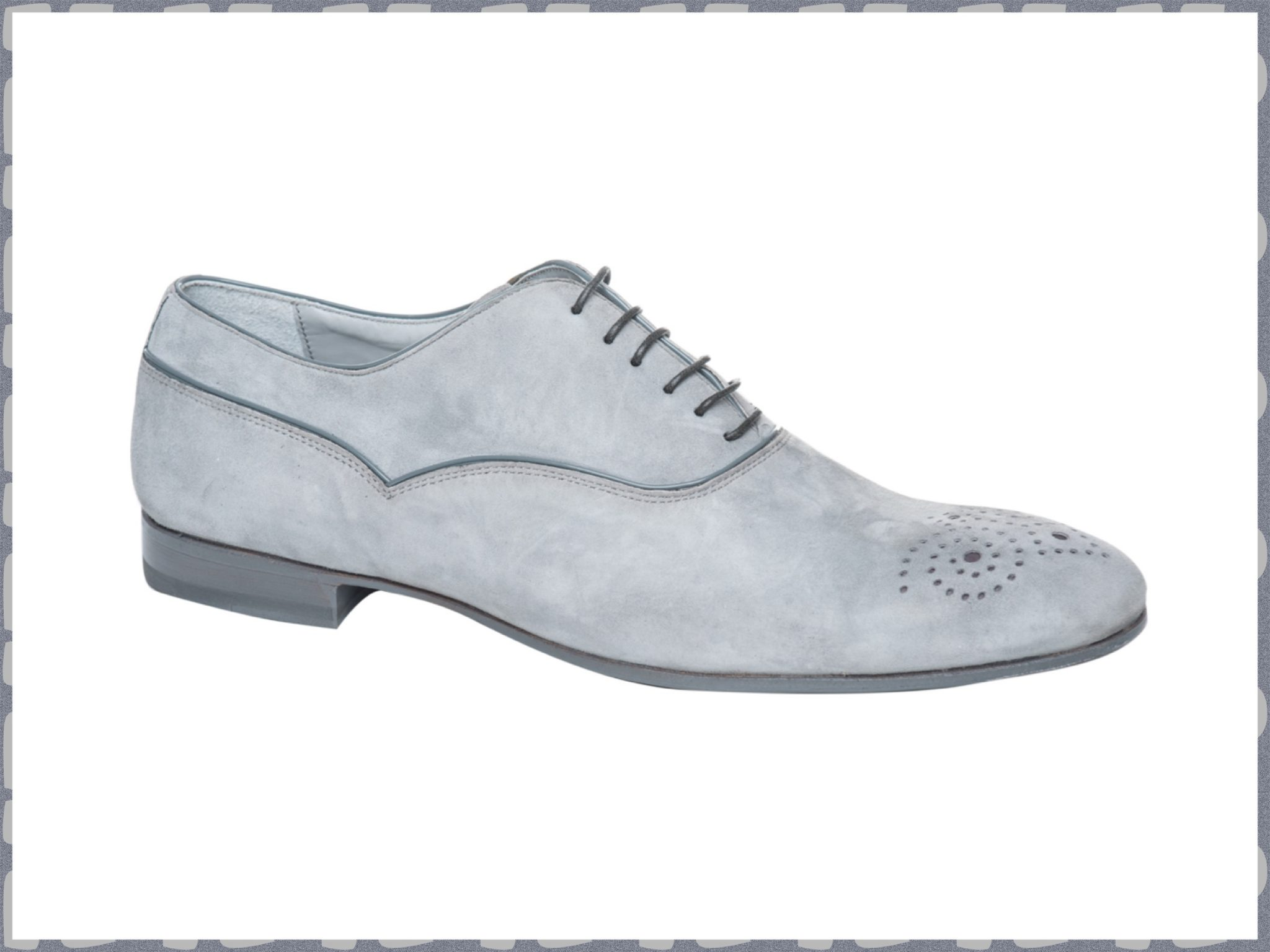 SS2013 Grey suede lace-up shoes by Franceschetti