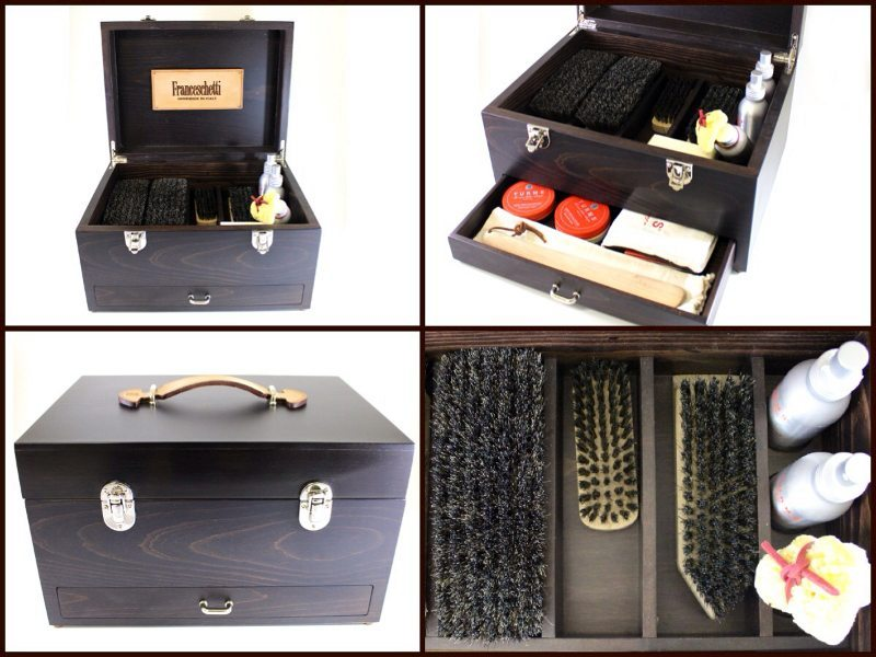 Luxury shoe care kit by Franceschetti