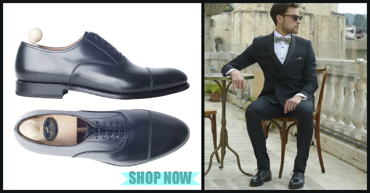 Formal shoes, black oxford modell shoe by Franceschetti