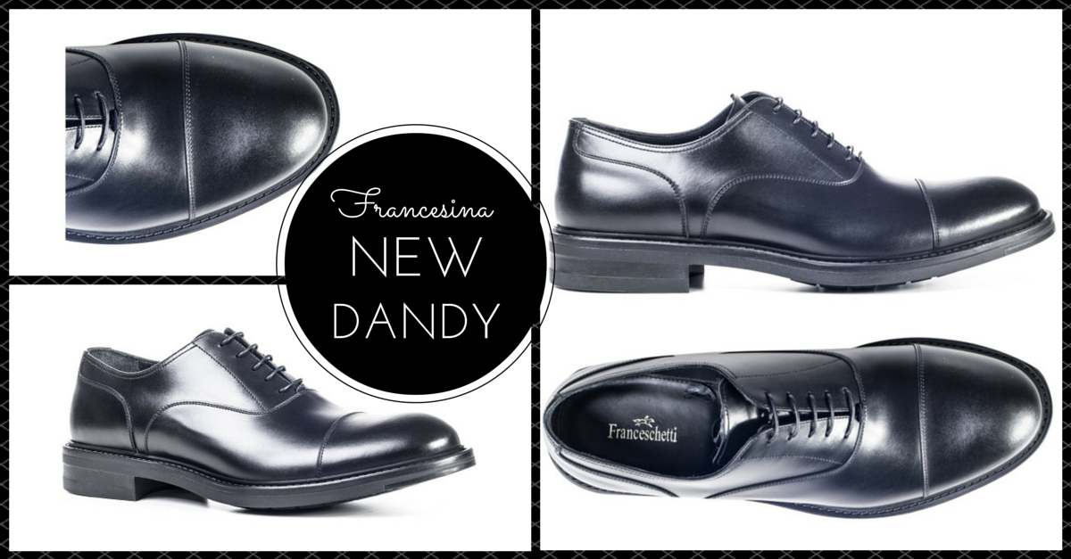 Formal shoes, black oxford model shoe by Franceschetti