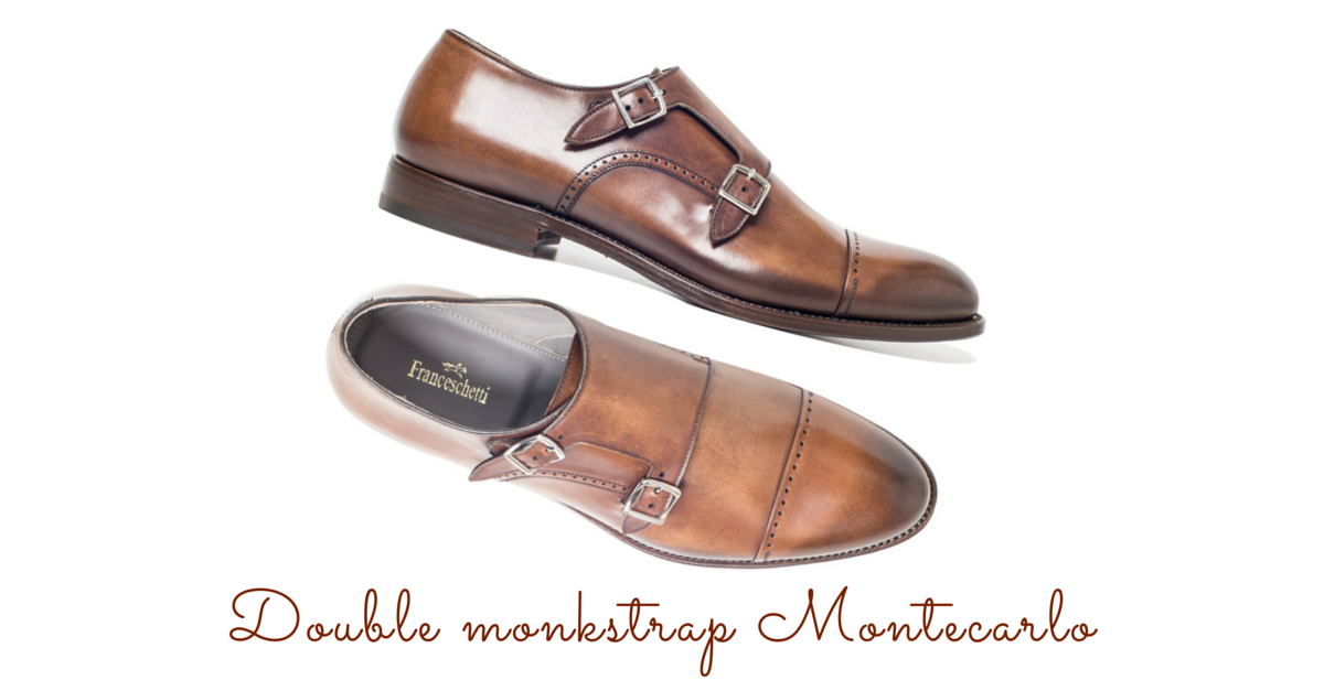 Monk strap Montecarlo in leather Franceschetti