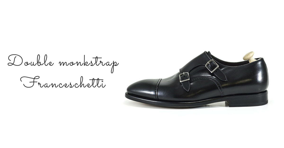 Monk strap Franceschetti in black leather