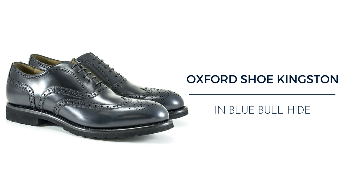 Blue mens shoes: oxford shoe Kingston Franceschetti FW15-16