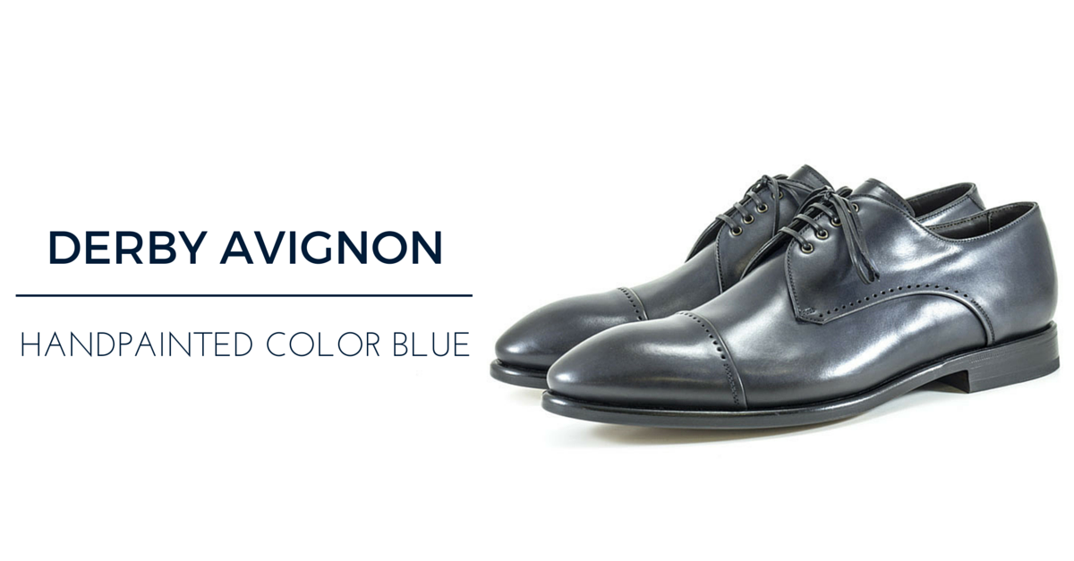 Blue mens shoes: derby Avignon Franceschetti FW15-16