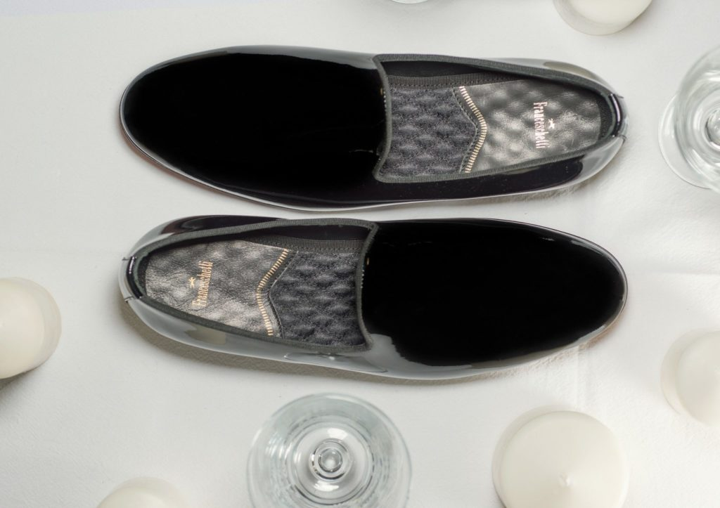 wedding accessories Franceschetti black patent loafers