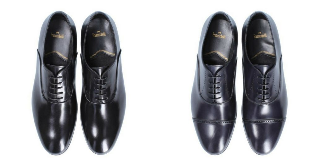 Shoes for man suit for wedding day: oxford with plain upper or cap toe