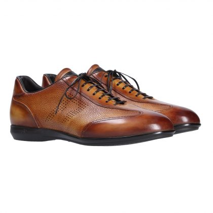 Leather lace up shoes by Franceschetti shoes