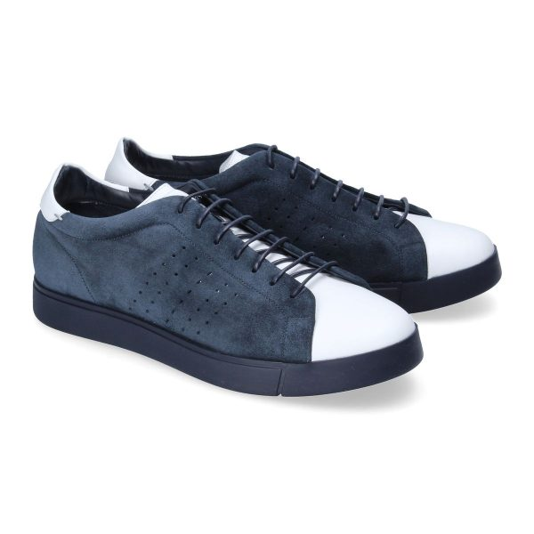 Blue and white sneaker