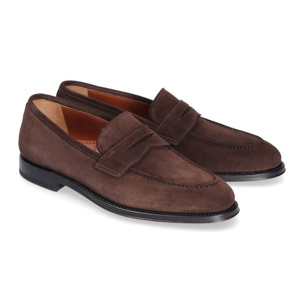Dark brown penny loafer Evan