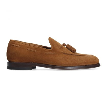 Suede Loafer with tassels
