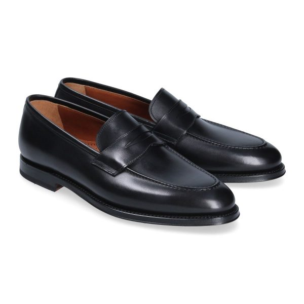 Black penny loafer Franceschetti