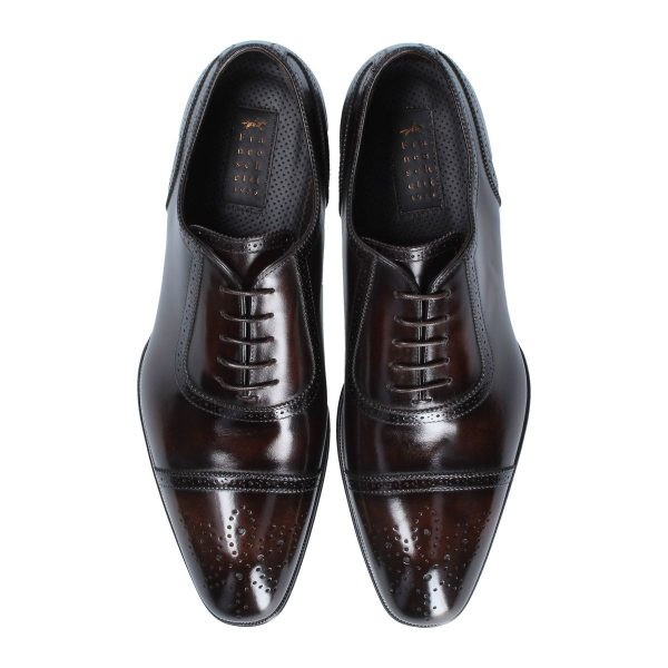 Dark brown oxford shoes
