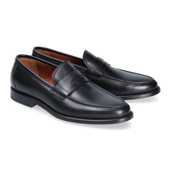 Black penny loafer